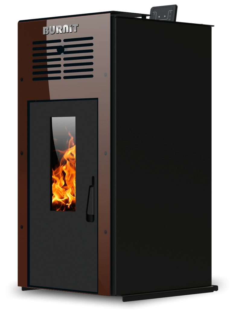 Pellet stove Ambient_Coffee Brown_Burnit