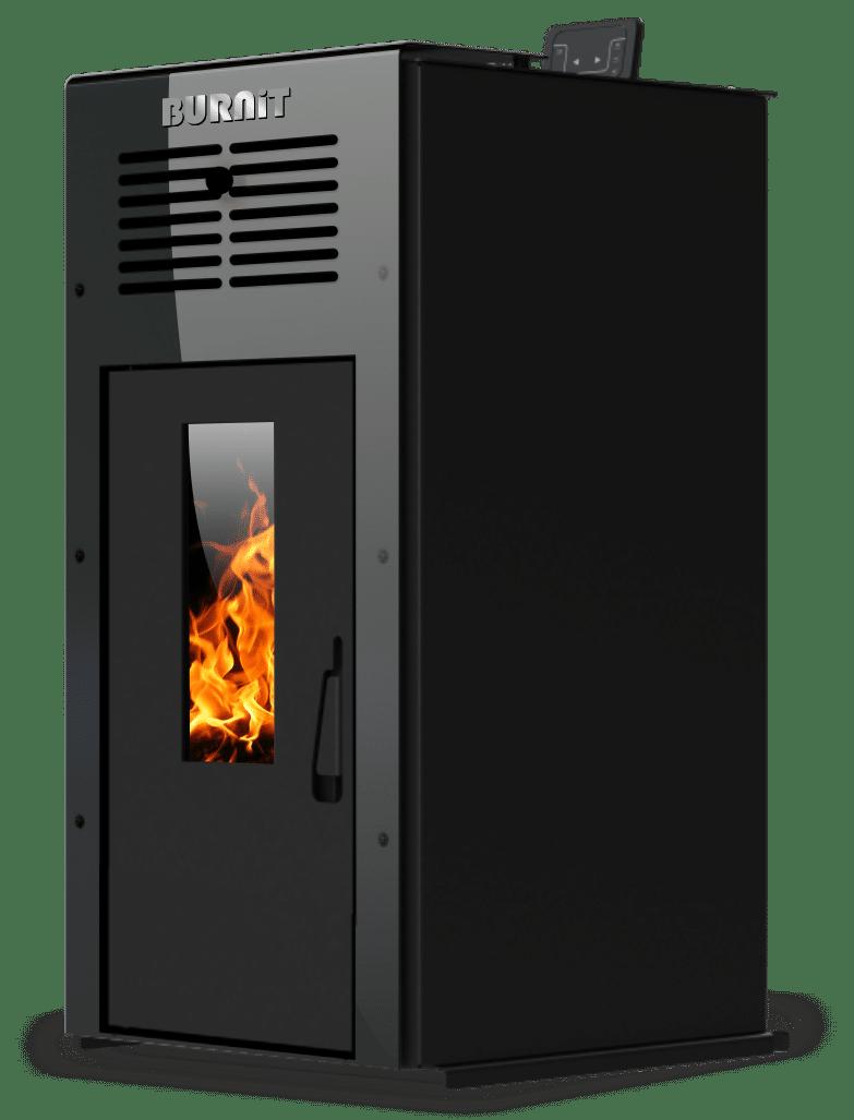 Pellet stove Ambient_Jet Black_Burnit