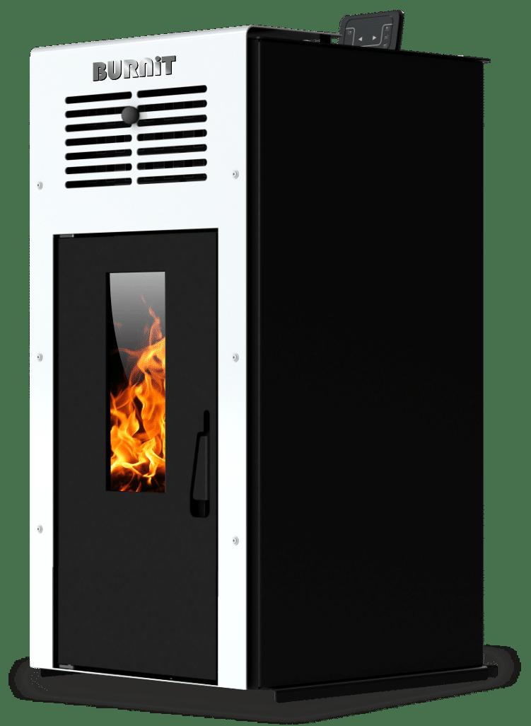 Pellet stove Ambient_Swan White_Burnit
