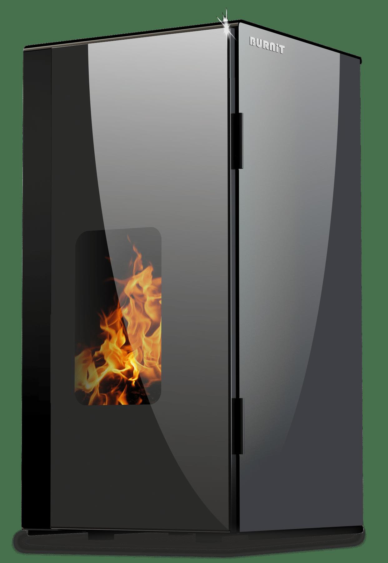 Pellet stove Vision_Anthracite Grey_Burnit
