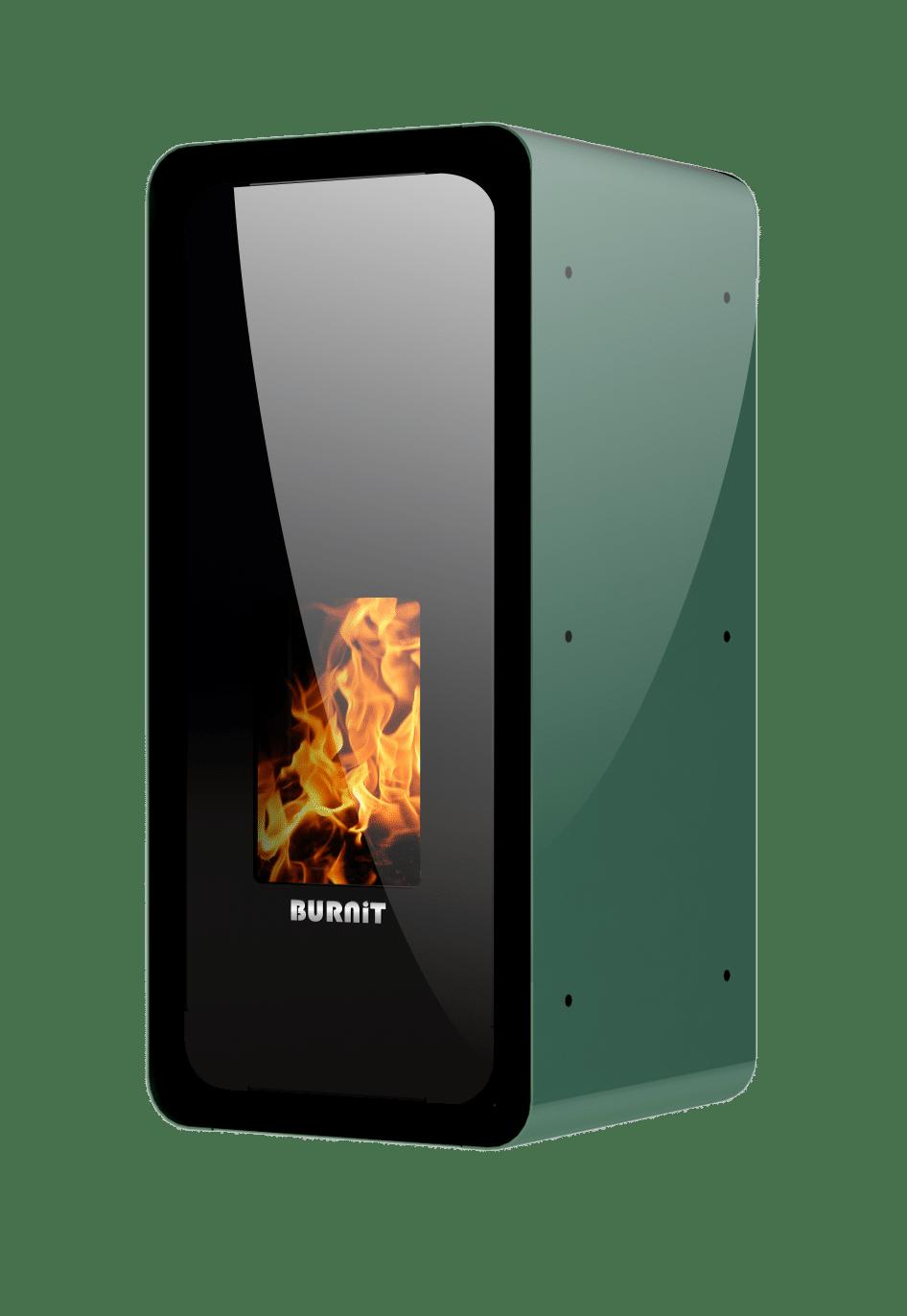 Pellet stove Calor_Pine Green_Burnit_new2